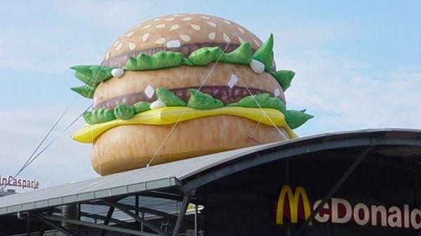 Opblaasbare hamburger blowup - Publi air McDonalds bigmac inflatable burger - blowups