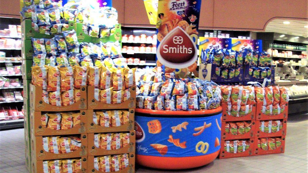 POS materiaal - Publi air - Pepsico stortbak display met topbord en verwisselbare banner, retail displays, winkel displays, display reclame