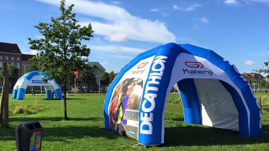 Opblaasbare tenten - Publi air - spintent inflatable spider tent - Decathlon Kalenji