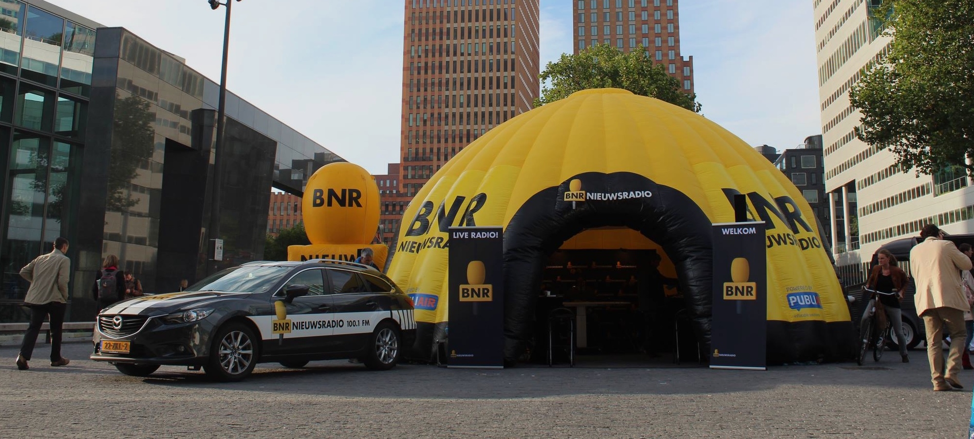 Opblaasbare tent dome tent custom inflatable tents - BNR - Publiair